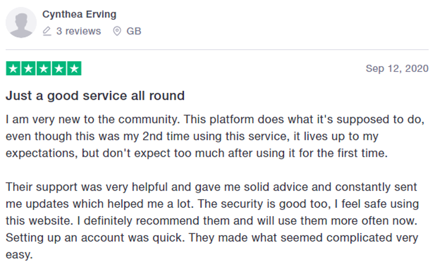 Another five-star review on Bitcoin Lifestyle