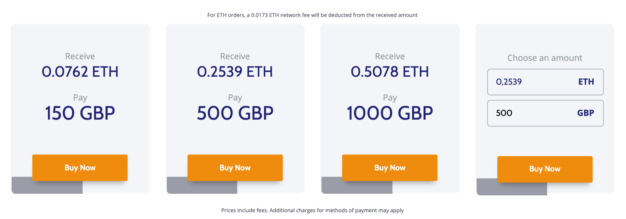Buying ETH on Coinmama step 2