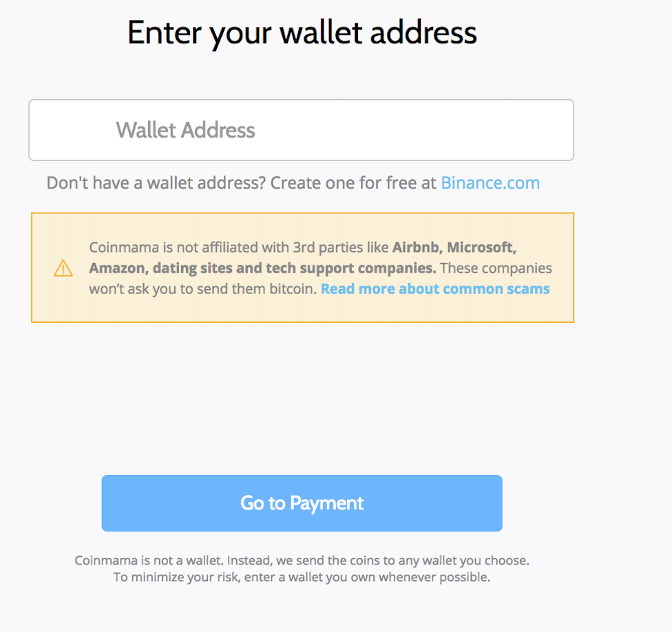 Buying ETH on Coinmama step 3