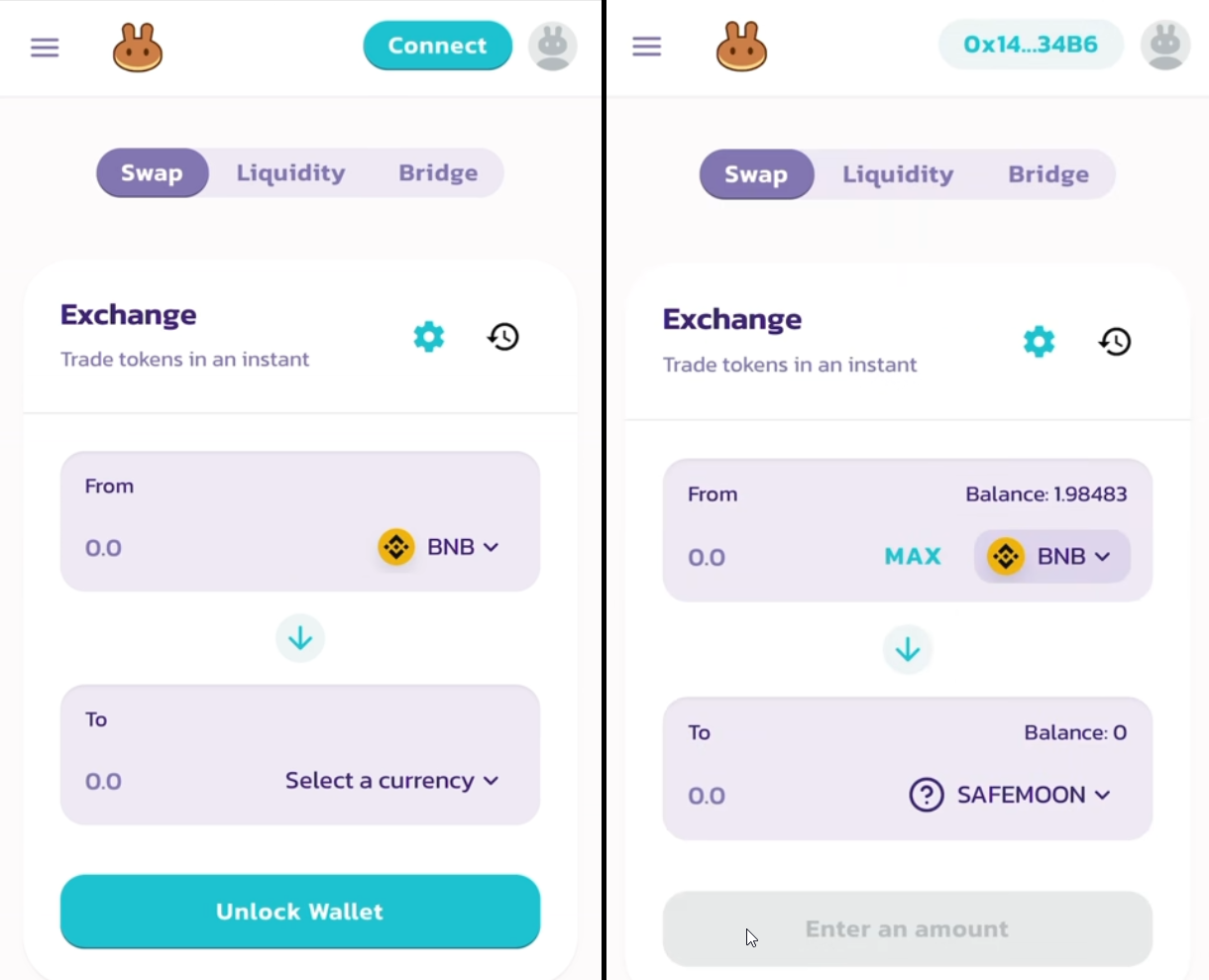 Step 5. Swap BNB Smart Chain for SAFEMOON