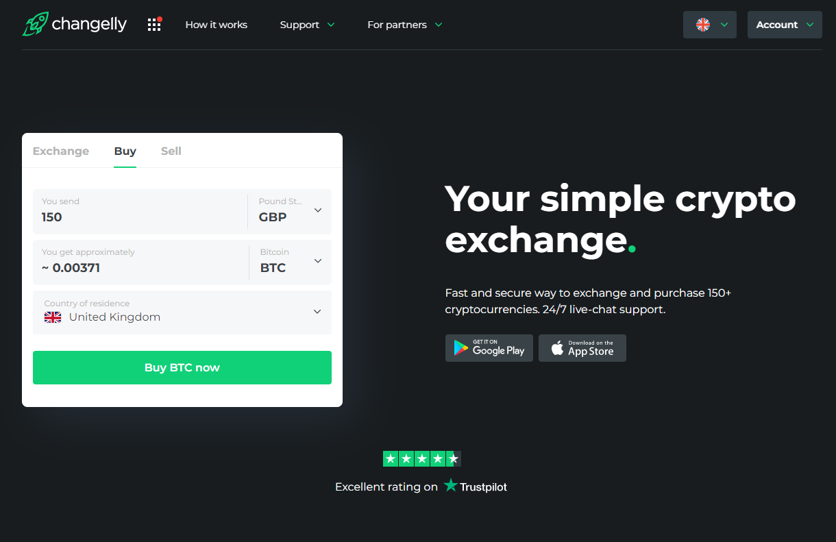 How to buy BTC on Changelly?