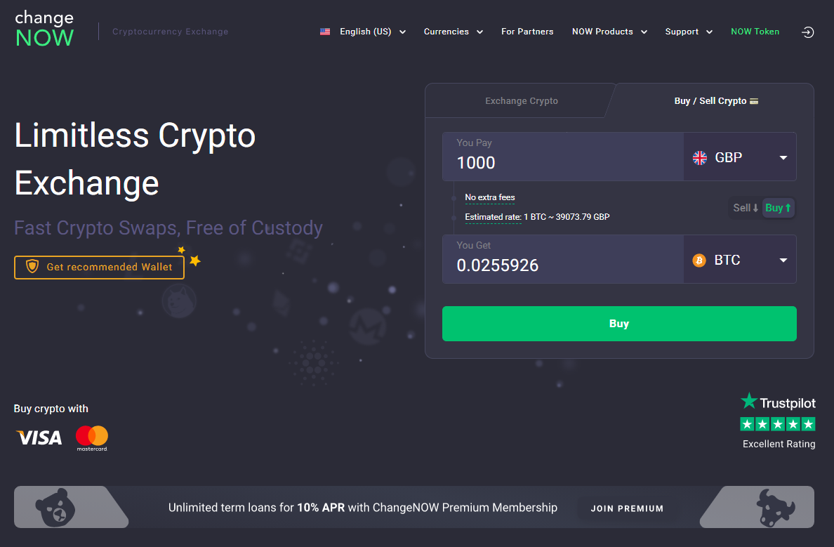 How to buy cryptocurrency on ChangeNOW