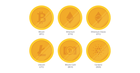 Select a digital currency you want to acquire.