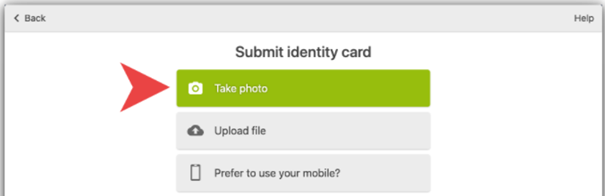 Submit identity card